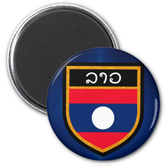 Laos Flag Magnet