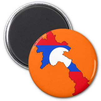 Laos flag map magnet