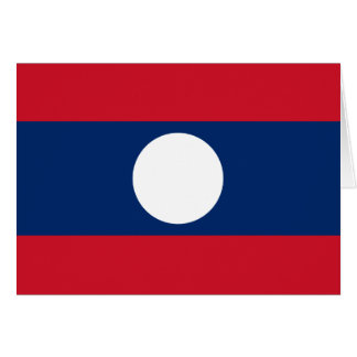 Laos Flag Note Card
