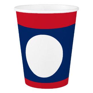 Laos Flag Paper Cup