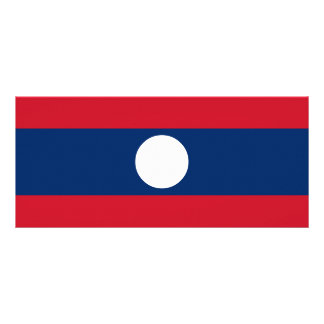 Laos Flag Rack Card