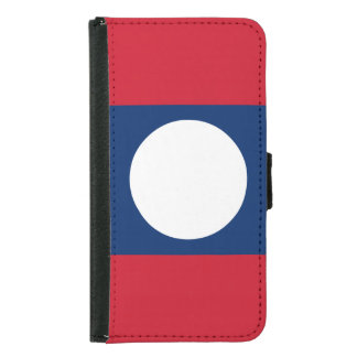 Laos Flag Samsung Galaxy S5 Wallet Case