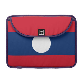 Laos Flag Sleeve For MacBook Pro