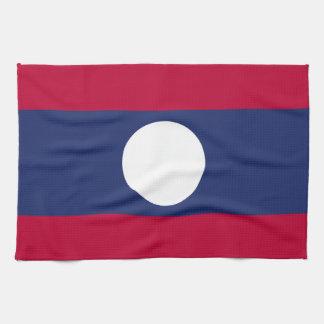 Laos Flag Tea Towel