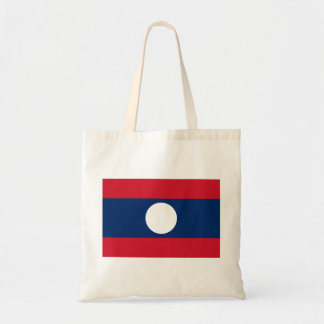 Laos Flag Tote Bag