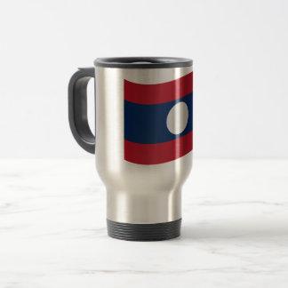 Laos Flag Travel Mug