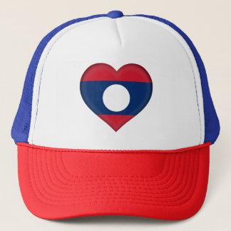 Laos Flag Trucker Hat