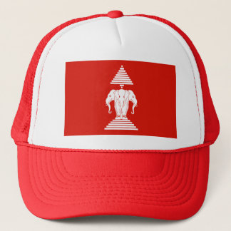 Laos Flag Trucker Hat