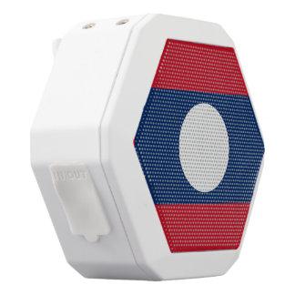 Laos Flag White Bluetooth Speaker
