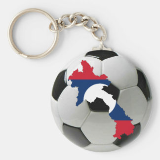 Laos football soccer keychain
