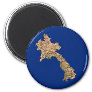 Laos Map Magnet
