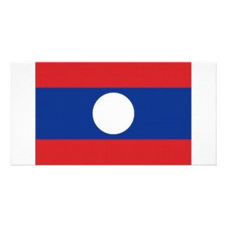 Laos National Flag Photo Cards