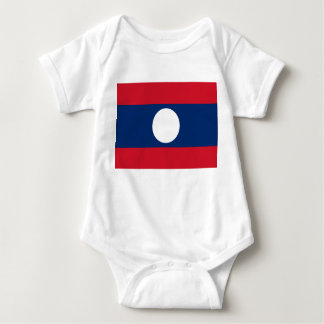 Laos National World Flag Baby Bodysuit