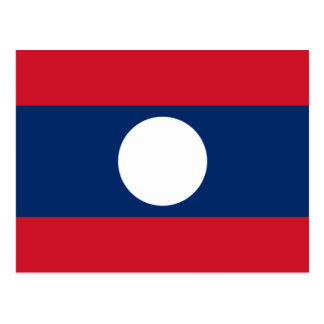 Laos National World Flag Postcard