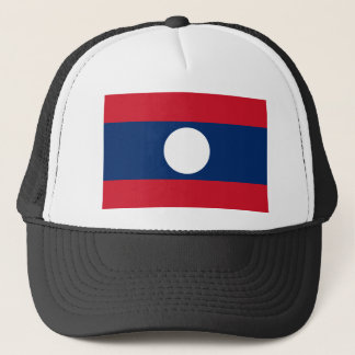 Laos National World Flag Trucker Hat