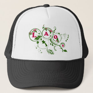 Laos rose trucker hat