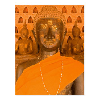 Laos, Vientiane, one of 6840 Buddha images in Postcard