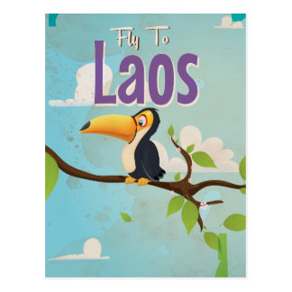 Laos Vintage vacation Poster Post Cards