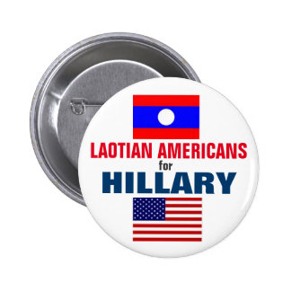 Laotian Americans for Hillary 2016 6 Cm Round Badge