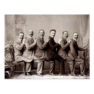 Lap Dancing Victorian Gents Postcard