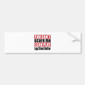 Lap Steel Guitar Scare Designs Bumper Sticker