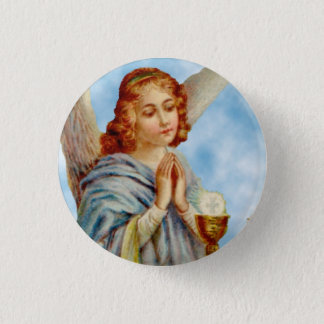 Lapel Pin: Angel Ponders 3 Cm Round Badge