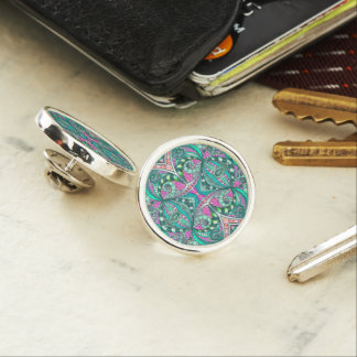 Lapel Pin Drawing Floral