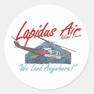 Lapidus Air Island Tours Classic Round Sticker