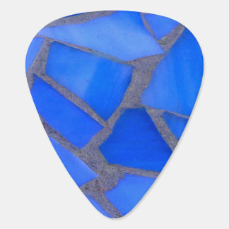 Lapis Blue Mosaic Stained Glass Plectrum