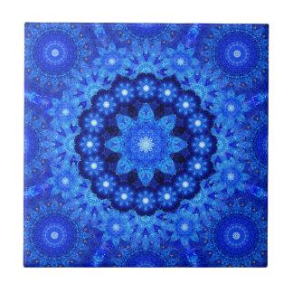 Lapis Crown Mandala Ceramic Tile