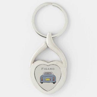 Lapis Grey Nissan Figaro Custom Heart Key Ring