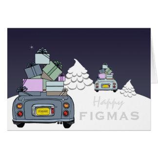 Lapis Grey Pale Aqua Figaro Happy Figmas Card