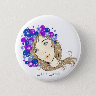 Lapis Lazuli 6 Cm Round Badge