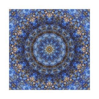 """Lapis Lazuli Laminate"" Mandala Canvas Print"