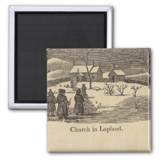 Lapland church, Palace St Petersburgh Magnet