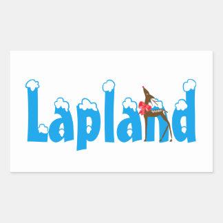 Lapland Reindeer Travel Promo Blue Luggage Sticker