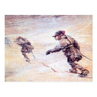 Laplanders in Snowstorm - Lappar i snostorm Postcard