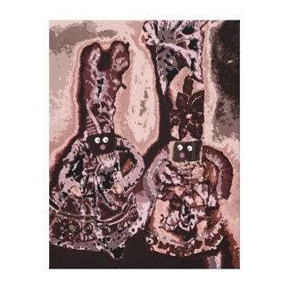 Lappenpop Rag Doll Stretched Canvas Print
