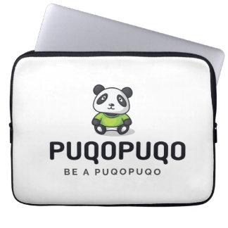 "Laptop bag - panda motive ""BE A puqopuqo """