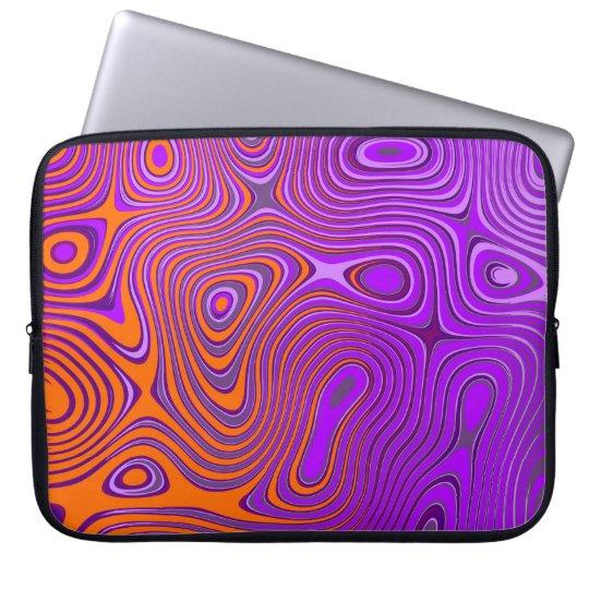 Laptop bag with Psycho sample orange/pink