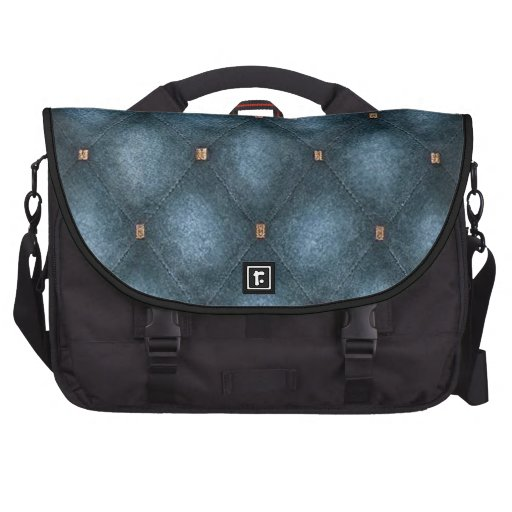 Laptop Bag with Turquoise Quilted Flap