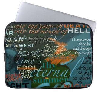 Laptop Case Poetry Quotes Shakespeare Computer Sleeves