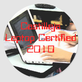 Laptop Certified Classic Round Sticker