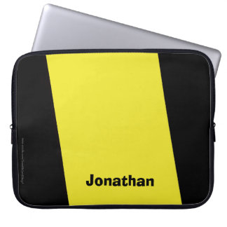 Laptop Computer Sleeve Yellow and Black