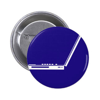 LAPTOP PARKING ROAD  SIGN 6 CM ROUND BADGE
