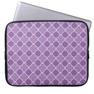 Laptop Purple Quatrefoil Pattern Laptop Sleeve