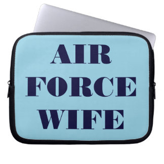Laptop Sleeve Air Force Wife