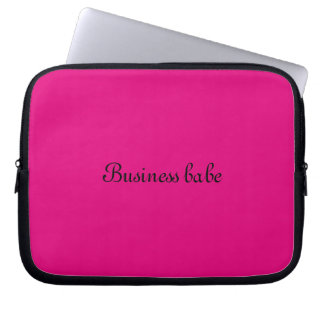 Laptop sleeve business babe