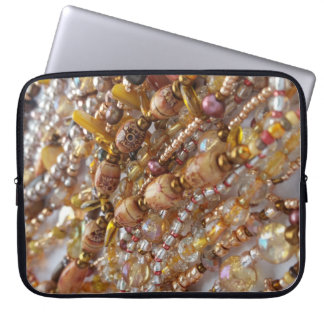 Laptop Sleeve- Earth Tones Bead Print Laptop Sleeve