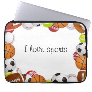 Laptop Sleeve-I Love Sports Computer Sleeve